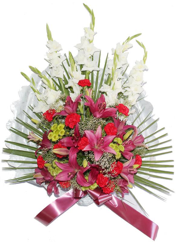 Ramo flor variada ramos flores naturales tienda online for Los jardines tanatorio