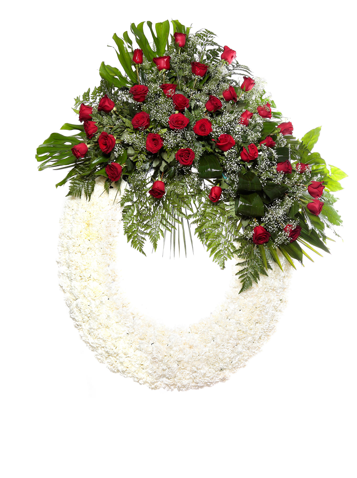 Corona flores tanatorio 5 q coronas flores naturales for Los jardines tanatorio