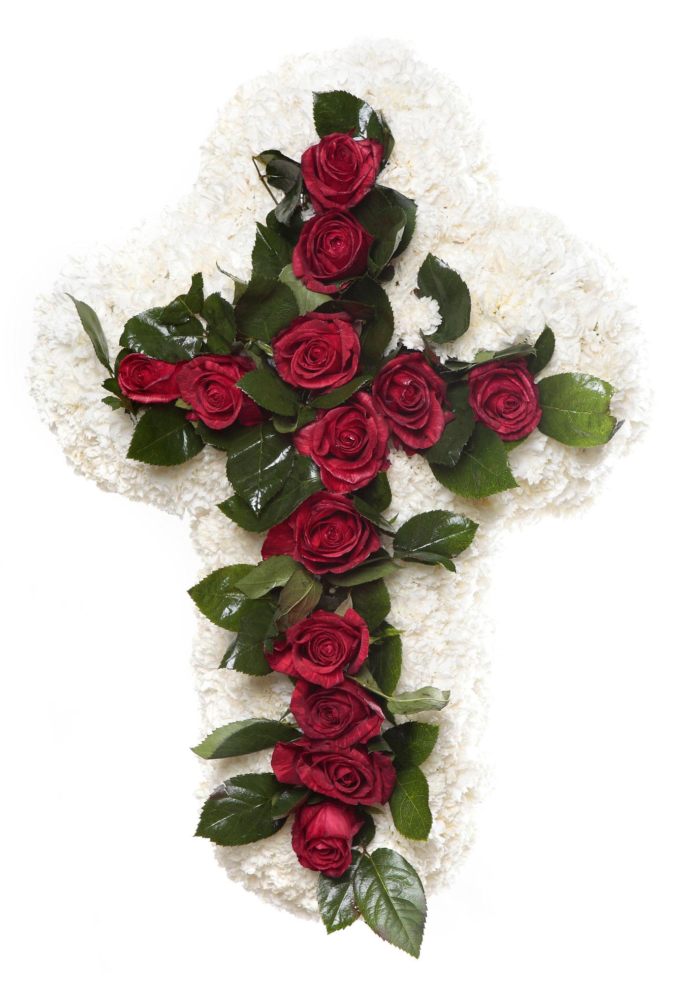 Cruz tanatorio 1 detalles flores naturales tienda online los jardines tanatorios y - Esquelas leon los jardines ...