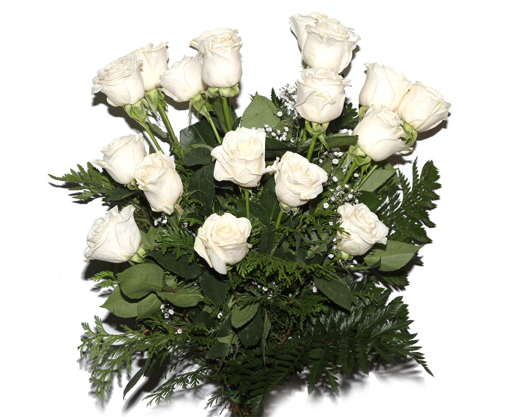 Ramo De 18 Rosas Blancas Ramos Flores Naturales Tienda Online