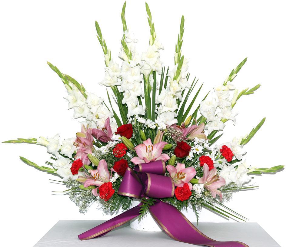 Centro de flor variada centro flores naturales tienda - Centros de rosas naturales ...