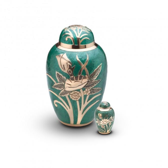 Urna cenizas hu 0713 urnas de lat n urnas para cenizas for Los jardines tanatorio