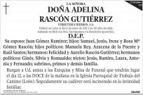 Esquela Diario de León - media página