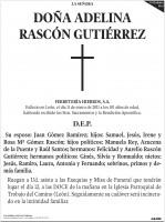 Esquela Diario de León - página completa
