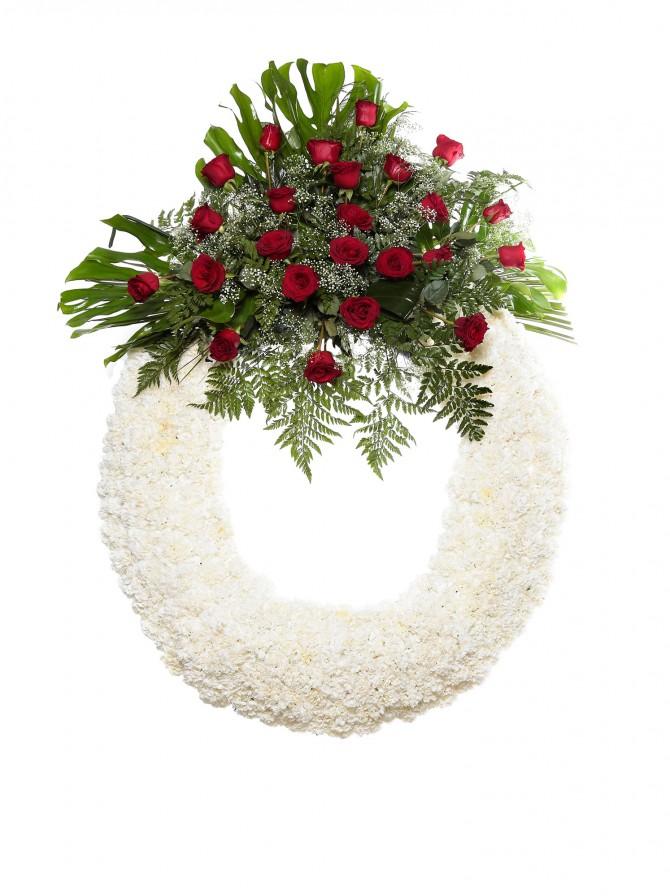 Corona flores tanatorio 3 y coronas flores naturales tienda online los jardines tanatorios - Esquelas leon los jardines ...