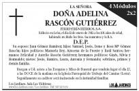 Esquela Diario de León - 4 módulos