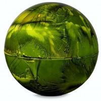 Urna cenizas redonda verde